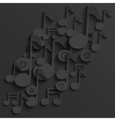 modern note music background template vector image