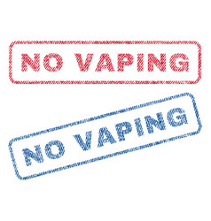 no vaping textile stamps vector image