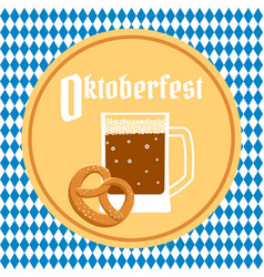 oktoberfest poster with beer vector image