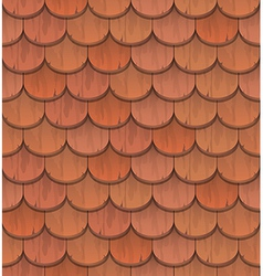 red clay roof tiles vector image