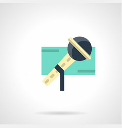 show microphone flat color icon vector image