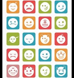 20 smiles vampires icons set square vector