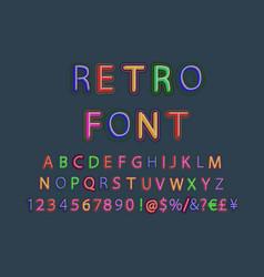 3d oblique retro font vector image