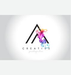 A vibrant creative leter logo design with vector