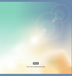 abstarct background or pastel sky and flare nature vector image
