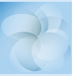 abstract blue transparent circles on background vector image