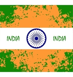 abstract flag of IndiaIndian Independence Day vector image