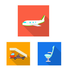 Airport and airplane symbol vector