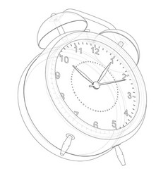 Alarm clock sketch vector
