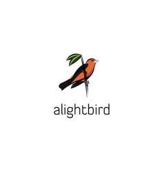 alight bird vector image