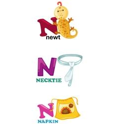 alphabet letter - N vector image