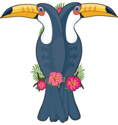 animal alphabet toucan vector image