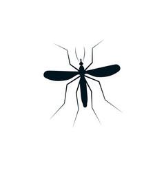 Anopheles mosquito logo dangerous bloodsucking vector