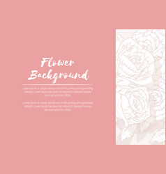 background floral hand drawn rose sketch vector image