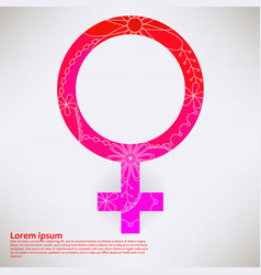 Background with woman sign transition colors vector
