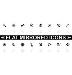 bacteria - flat icons vector image