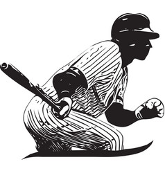 baseball player playing vector image vector image
