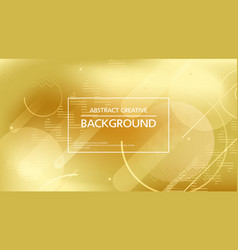 beautiful abstract template with golden background vector image