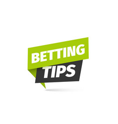 Betting tips isolated icon bookmaker sign vector