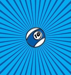 billiard ball sketch doodle vector image