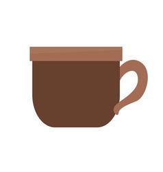 brown coffee cup beverage delicious vector image