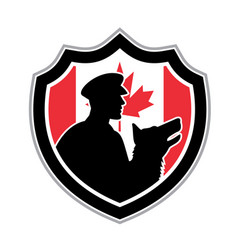 Canadian police canine team crest vector
