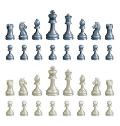 Chess pieces set vector