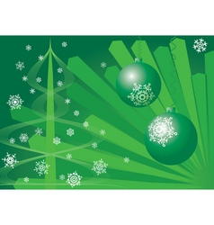Christmas background green vector image vector image