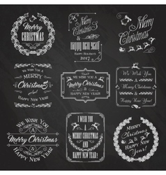 Christmas chalkboard set vector