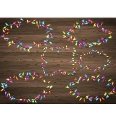 Christmas lights frames eps 10 vector