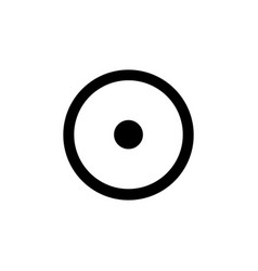 Circled dot alchemical symbol for sun icon vector
