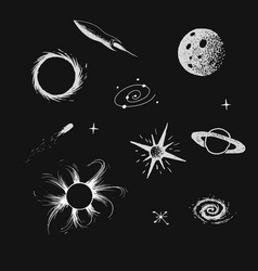 Collection of universe objects vector