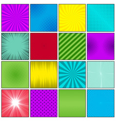 Comic book colorful humor template vector