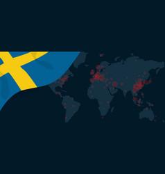 Corona virus covid-19 pandemic outbreak world map vector