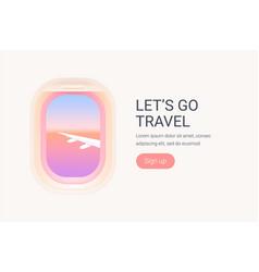 Creative concept travel plane vector