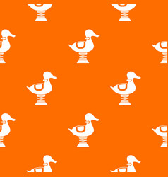 Duck spring see saw pattern seamless vector
