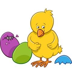 Easter chicken cartoon character vector