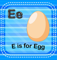flashcard letter e is for egg vector image