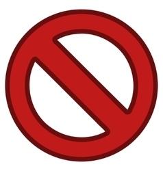 Forbidden Toolbar Icon vector