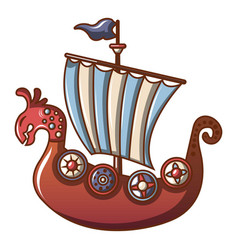 Frigate icon cartoon style vector