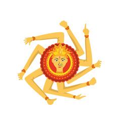 Goddess durga maa on white background vector