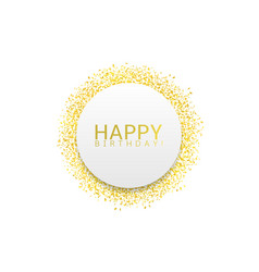 golden confetti label vector image