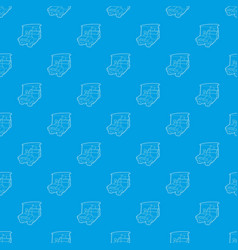 golf car pattern seamless blue vector image