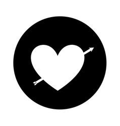 Heart love romantic card vector