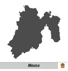 high quality map with flag state mexico vector image