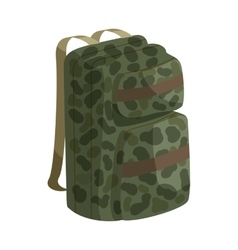 Hunting backpack icon cartoon style vector