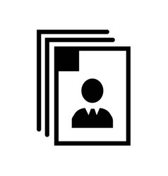 identity on personal images icon icon simple vector image