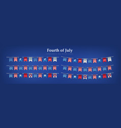 independence day usa buntings 4th july vector image