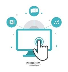 Interactive technology design vector