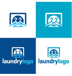 laundry icon and logo 2 vector image